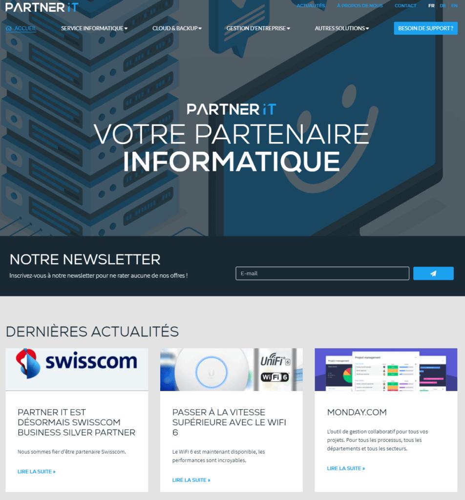 Découvrez notre nouveau site web : www.partnerit.ch